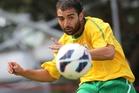 Santiago Hassan in action for AFC Fury against Papakura FC.Photo/John Borren.