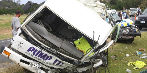 The two vehicles involved in yesterday's crash at Pukenui. Neither driver was badly injured.Photo/Peter Jackson