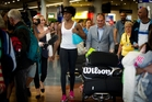 Venus Williams arrives in Auckland ahead of Monday's ASB Classic. Photo / Sarah Ivey