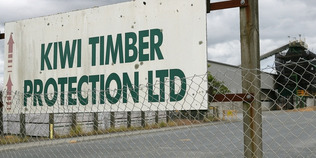 BLAZE: A fire in the boiler room at Carter Holt Harvey's Kiwi Timber Company yard in Union East St, Whangarei, above, kept firefighters busy for more than two hours on Christmas Day. PHOTO/RON BURGIN