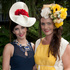 Carena West (left) and Amanda MacDonald at Ellerslie Racecourse. Photo / Natalie Slade