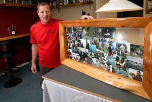 Greig Morgan filled his rustic frame with fishing pictures - now he's looking forward to a trip down memory lane with the lads. Photo / Getty Images