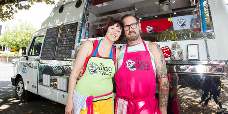 Sarah and Otis Frizzell, owners of The Lucky Taco, aim to create home taco kits. Photo / Kellie Blizard