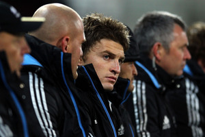 Beauden Barrett's bench appearances should be capped. Photo / Getty Images