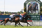 Costa Viva, right, is on target for the Eight Carat at Ellerslie. Photo / Getty Images
