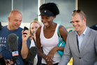 Tennis player Venus Williams arrives in Auckland for the ASB Classic. Photo / Sarah Ivey