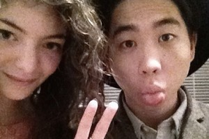 Lorde's selfie with her boyfriend James Lowe.