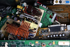 Electronic scrap creates a significant recycling problem world-wide. Photo / AP