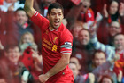 Luis Suarez took his tally of league goals to 19 after scoring twice against Cardiff City at the weekend. Photo / AP