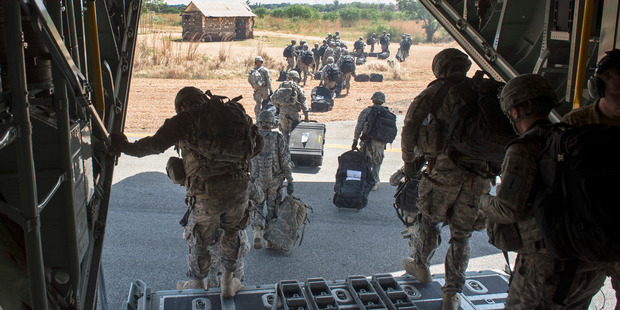 Soldiers of the East Africa Response Force.
