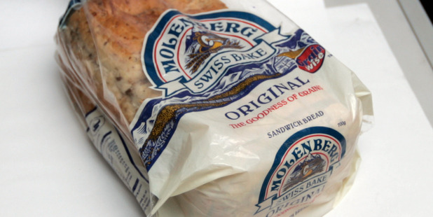 Molenberg sliced bread. Molenberg is among brands marketed by Goodman Fielder. Photo / HOS
