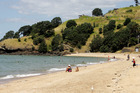 The afternoon is the best time for Aucklanders to head to the beach, with rain mostly confined to the morning and evening. Photo / File