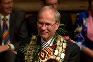 Auckland Mayor Len Brown. Photo / Brett Phibbs