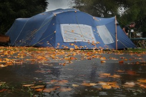 Camping in the rain was 'positively tropical' for the 19-year-olds from Montreal. File photo / NZ Herald