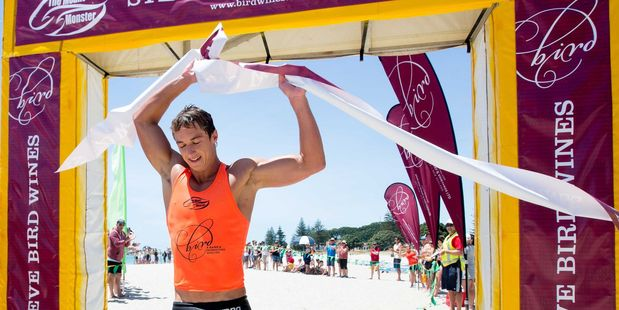 Midway's Cory Taylor wins the inaugural Mount Monster endurance race at Mount Maunganui. Photo/Jaime Troughton