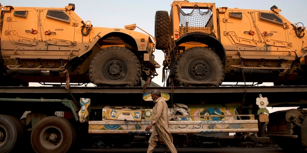 The sale includes military vehicles. Photo / AP
