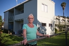 Anne Braithwaite, who lives in one of the Freemans Bay flats, is worried about redevelopment. Photo / Greg Bowker