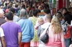 CRUSH: Boxing Day shoppers packed Emerson St, Napier. PHOTO/ PAUL TAYLOR HBT134141-12