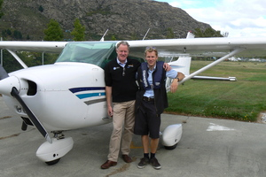 Air Milford father and son aviation duo, Hank Sproull (left) and Antony Sproull. Photo / supplied
