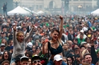 The crowd at a pro-marijuana rally in Colorado in April. Photo / AP