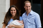 The Duchess of Cambridge, didn't try to hide her mummy tummy. Photo / AP