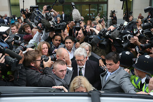 Artist and television personality Rolf Harris leaves Westminster Magistrates' Court in September. Photo / Getty Images