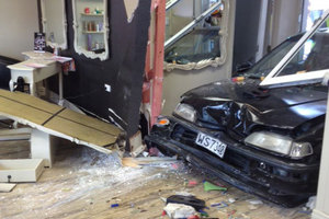 The salon's other co-owner Ange Davies said the damage to the business was extensive. Photo / supplied