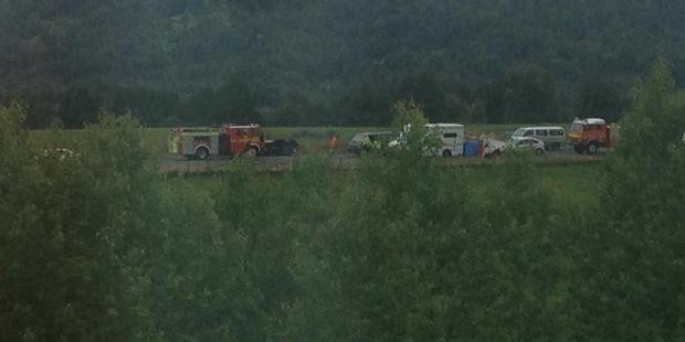 A baby died following a crash on SH4 in Owhango. Photo / Lloyd Mason