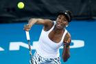 Venus Williams in action against Andrea Hlavackova. Photo / Richard Robinson