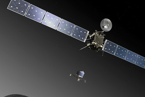 The Rosetta orbiter will send its Philae lander on to the surface of its target comet. Photo / AP