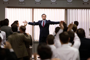 Leonardo DiCaprio is unlikeable in The Wolf of Wall Street.