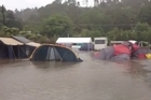 This was the scene this morning at the Cooks Beach campground. Video / A Westbrook