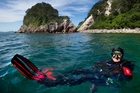 Darrell Bird, owner of Dive Zone Whitianga, relaxes in his