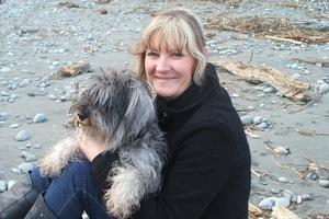 Debby Lange and dog Zeta. Photo / Debby Lange