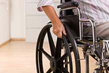 Foldable wheels could make it easier for wheelchair transportation. P