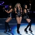 Beyonce performs with Kelly Rowland, left, and Michelle Williams, right, of Destiny's Child, during the halftime show of the NFL Super Bowl. Photo / AP