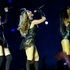 Beyonce, center, Kelly Rowland, right, and Michelle Williams, left, of Destiny's Child, perform during the halftime show of the NFL Super Bowl. Photo / AP