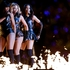 Beyonce, center, Kelly Rowland, left, and Michelle Williams, of Destiny's Child, perform during the halftime show of the NFL Super Bowl. Photo / AP