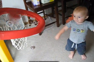 Sinking trick basketball shots is a pretty cool feat, but it's even cooler when the shots come from a child that is still learning basic motor skills. Photo / Youtube.
