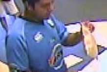 Police have released an image from the CCTV footage of Shalvin Prassad withdrawing money at the ASB Bank on Ron Wood Ave in Manukau. Photo / supplied