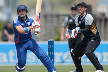 Luke Wright of England bats during a T20 Practice Match between New Zealand XI and England. Photo / Getty Images.