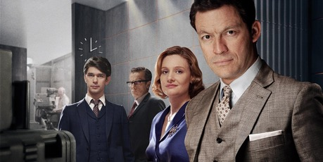 Dominic West (far right) returns for series two of The Hour. Photo / Supplied