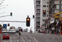 The intersection of Victoria and Albert Street in Auckland. Photo / Richard Robinson