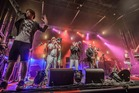Fat Freddy's Drop brought the funk at the Matakana Classic Hits Winery Tour.  Photo / Steve Dykes