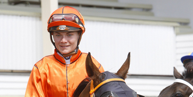 Casltzeberg ridden by Danielle Johnson returns to scale after winning the Waikato Guineas at Te Rapa on Saturday. Photo / Supplied