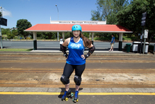 Skater Hannah Jennings-Voykovich, Western Springs. Photo / Richard Robinson.