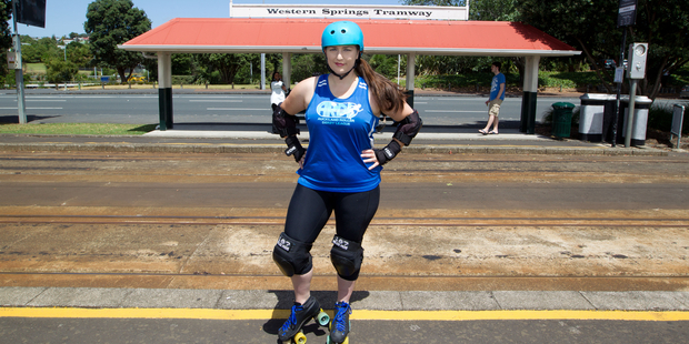 Skater Hannah Jennings-Voykovich, Western Springs. Photo / Richard Robinson.