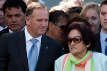 PM John Key worked out a while ago that walking away from Waitangi was not possible. Photo / Sarah Ivey