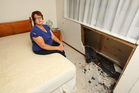 Bette Eavestaff's morning was interrupted when a car crashed into her bedroom. Photo / Chris Gormon