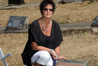 Linda Wade discovered on a visit to Waikumete this week that the grave of her 11-day-old son Luke, who died in 1990, had been bulldozed. Photo / Greg Bowker